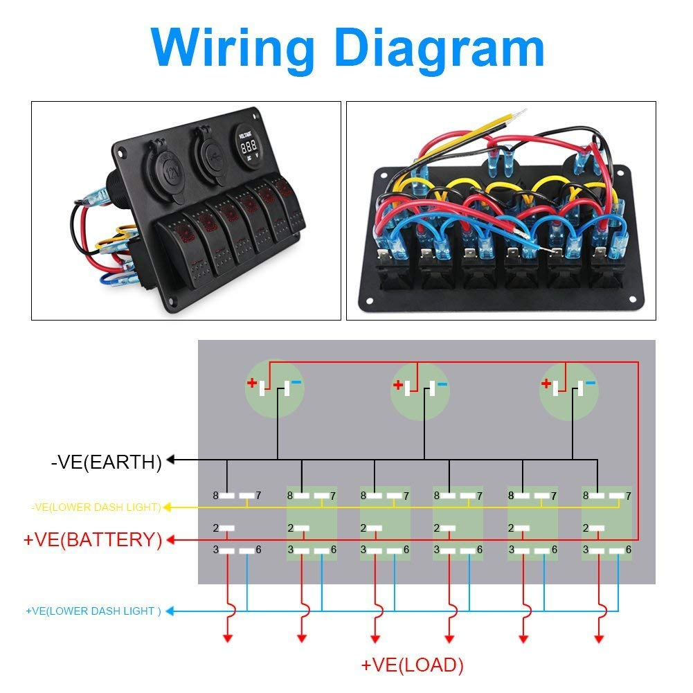 Waterwich 4 Way Blade Fuse Box Standard Circuit Holder Boat Wiring Diagram Block Dc 12 32v With