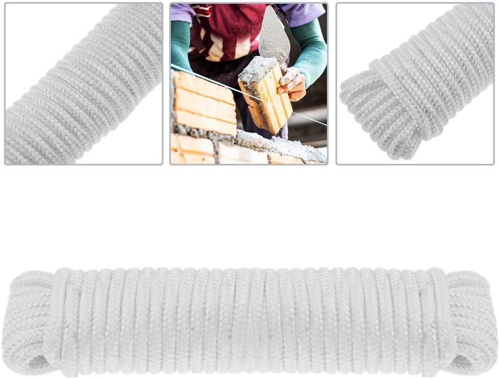 Cuerda Trenzada de Nailon 20 m x 6 mm Blanca PrimeMatik