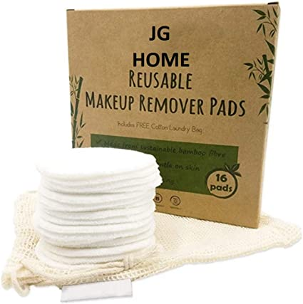 JG Home Discos Desmaquillantes Reutilizables de Bambú Orgánico 16 ...