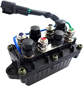 Relay Boat Assembly Fits for Yamaha Range of Outboards 2 and 4 Stroke 1990-2005 25-250 HP 2003 and UP 25 60 70 HP, Power Trim and Tilt Relay Assy Vessel Ship Motorcycle 61A-81950-01-00 61A-81950-00-00