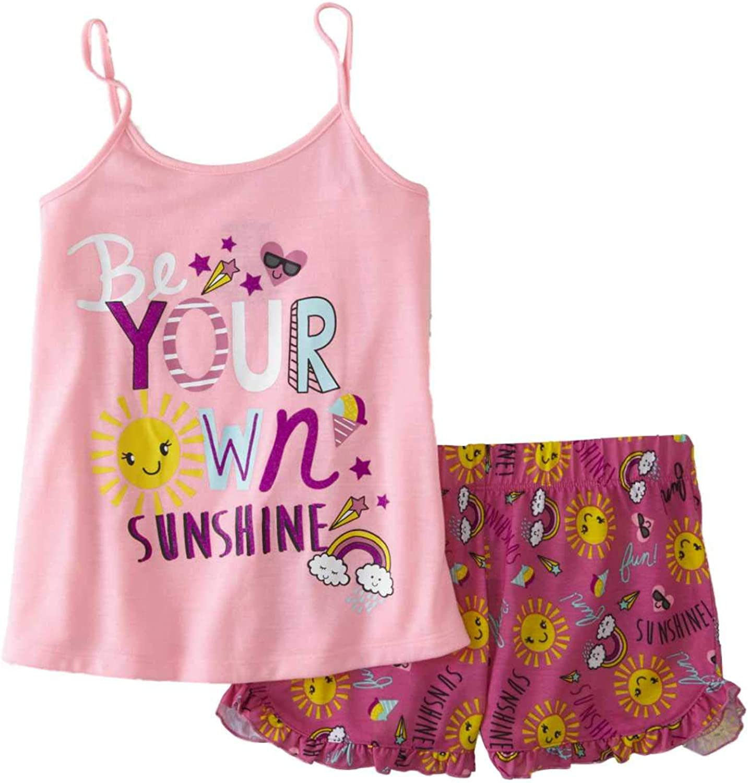 "18/"" Dolls Glitter Star Tank /& Print Shorts Pajamas Fits American Girl Dolls"