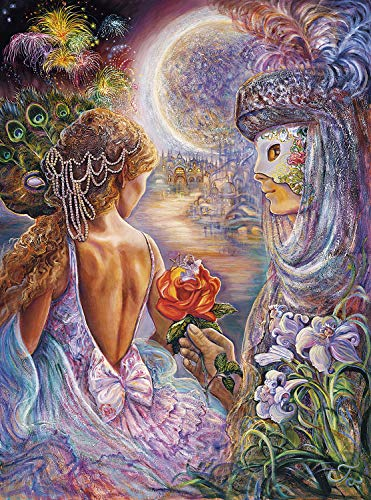 Buffalo Games - Josephine Wall - Masque of Love - Glitter Edition - 1000 Piece Jigsaw Puzzle (Gras Mardi Puzzle)