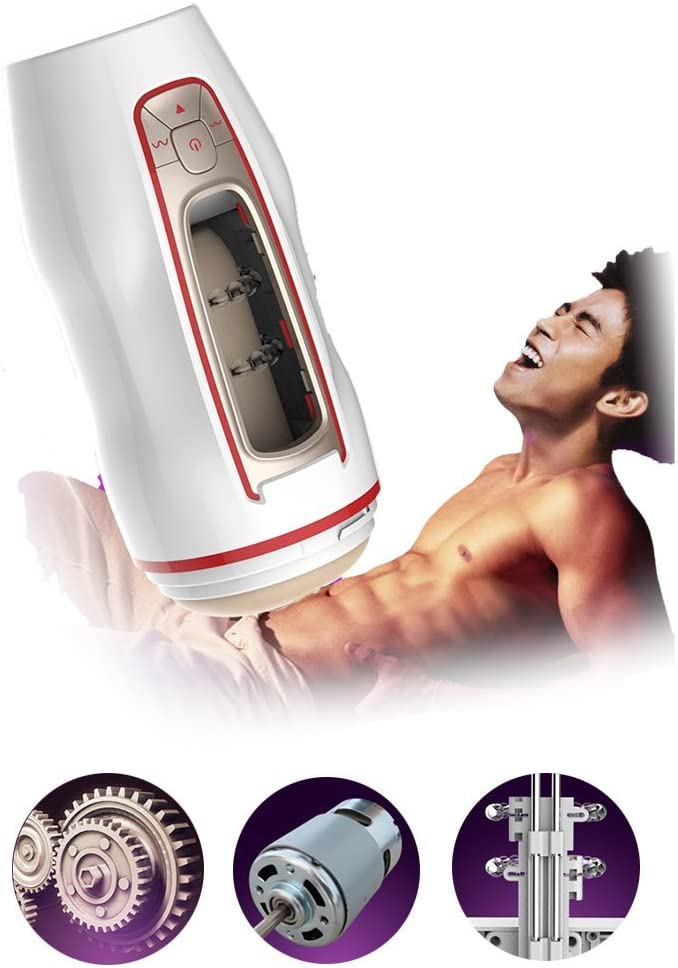 Prime PRO II Male 7-Speed 7-Frequency //49 Modes Automatical Electric Male Sucker USB Rechargeable Strong Suction Cup-00S7C29-WHITE