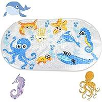 CODIRATO Alfombrilla de Baño Antideslizante para Niños Alfombrillas para Bañera con Motivos del Océano Alfombrillas de…
