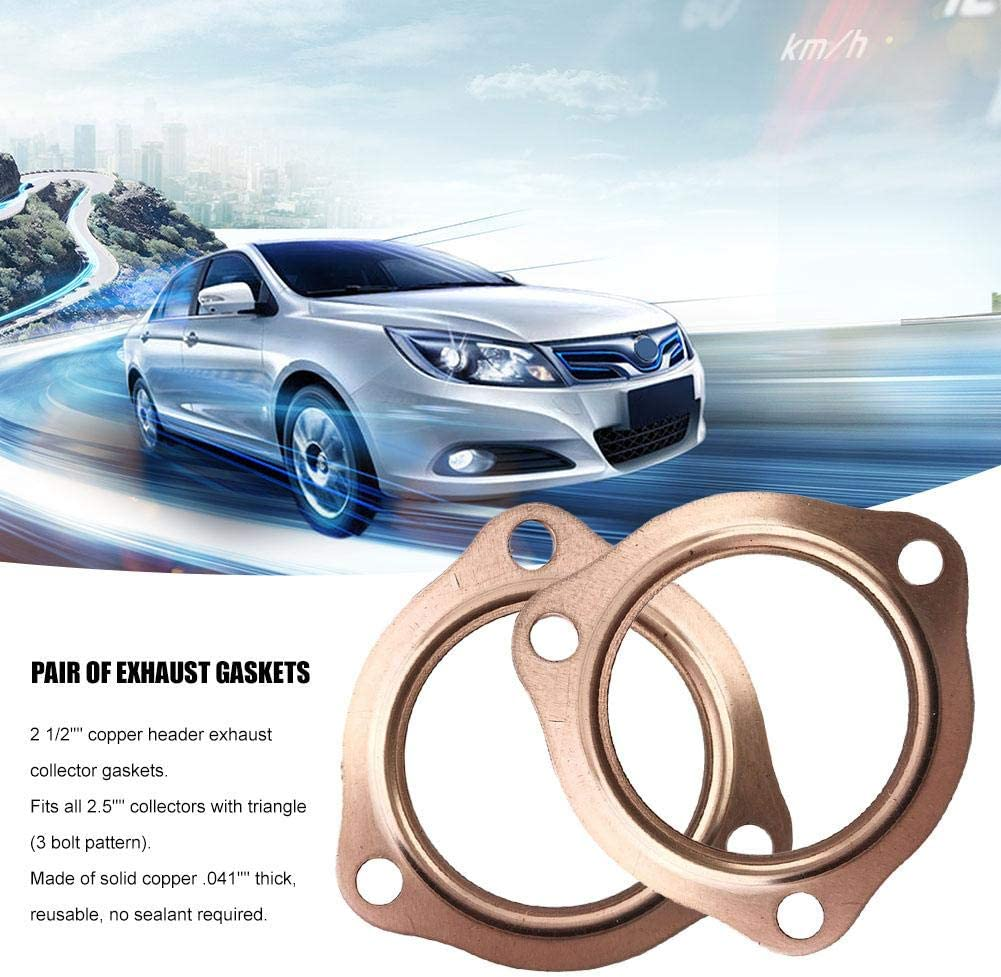 Per Newly Exhaust Gaskets 2 1//2 Copper Header Exhaust Collector Gaskets Reusable SBC BBC 302 350 454