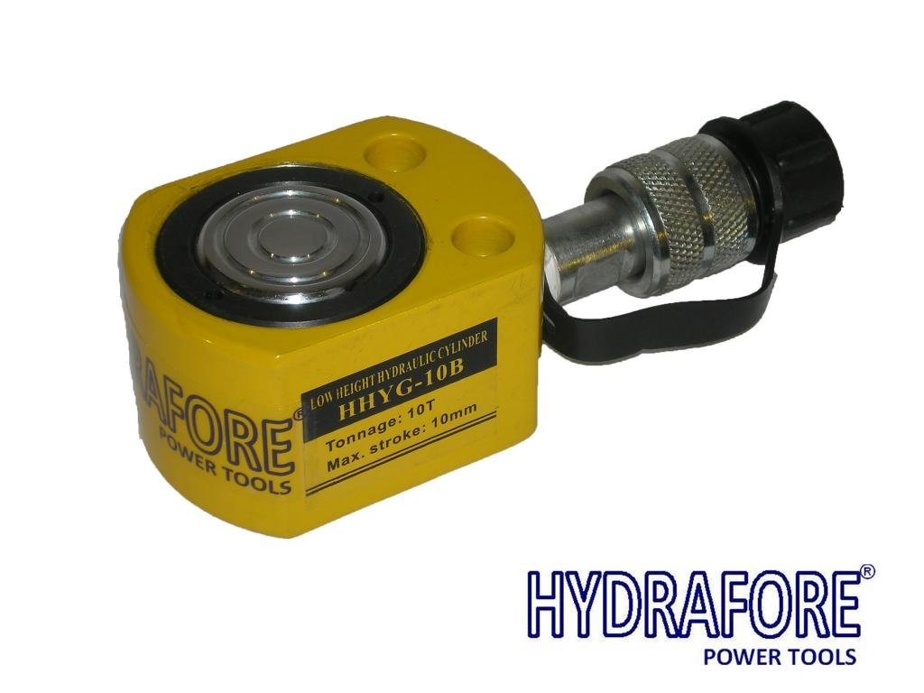 low height hydraulic cylinder 10 ton 10 mm YG-10B HYDRAFORE