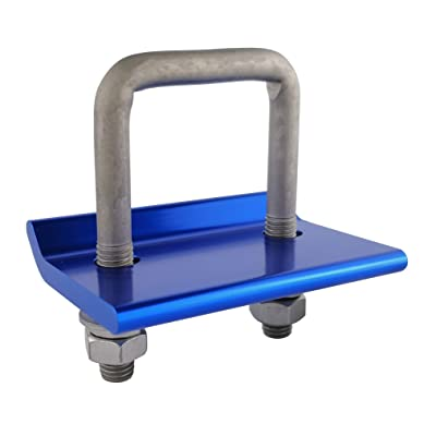 TOPTOW 64705 Trailer Hitch Tightener Anti Rattle Clamp for 1.25 Inch and 2 Inch Hitch Receiver Hitches (Blue), Aluminum Anti-Rattle Stabilizer Hitch Clamp: Automotive