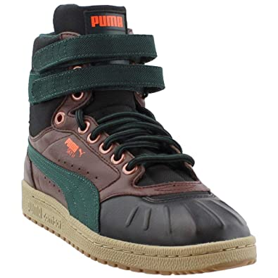 750d4d177d16 PUMA Mens Sky II High Duck Winter Athletic   Sneakers Brown