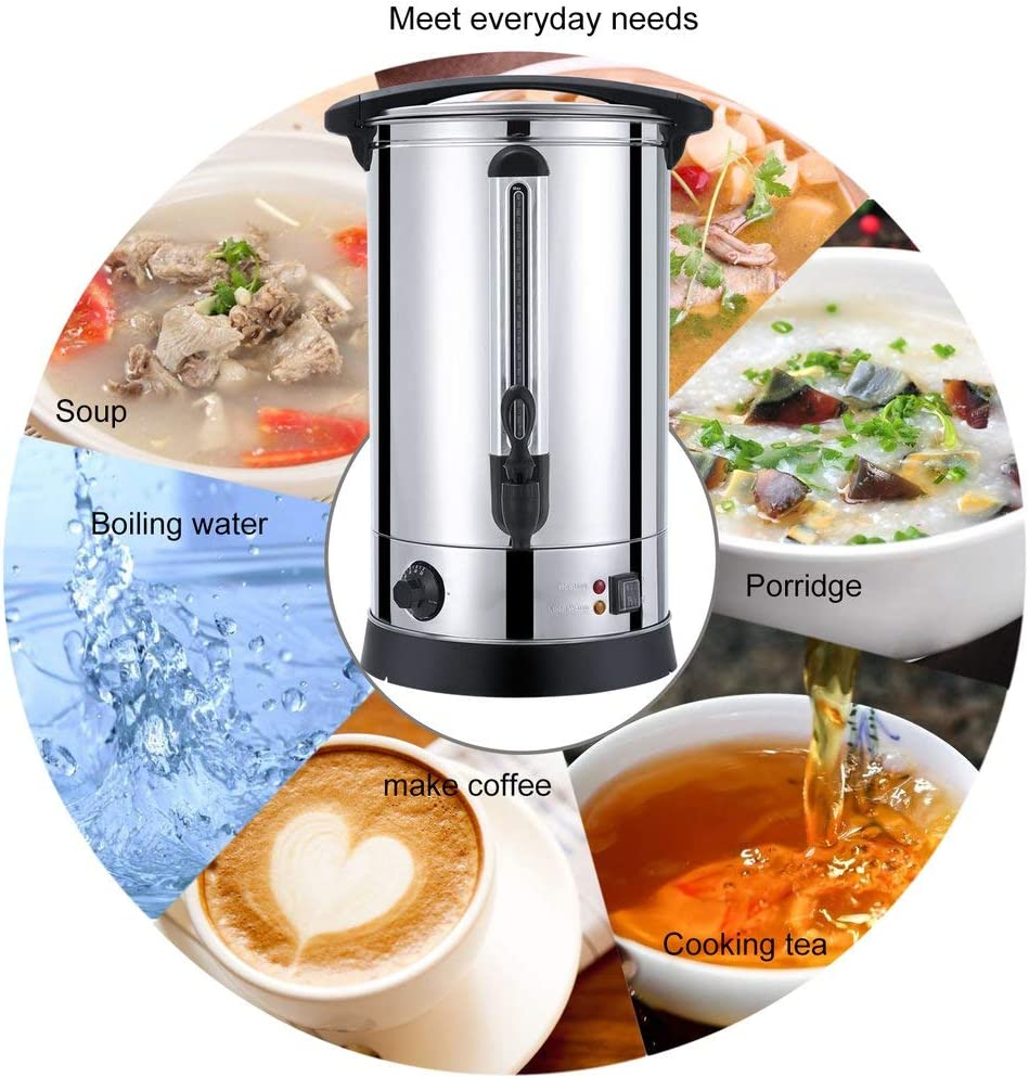 Coffee for Milk with Automatic Temperature Control /& Keep Warm Function Tea Mulled Wines and More 30L Commercial Stainless Steel Instant Water Heater Dalkeyie Hot Water Dispenser