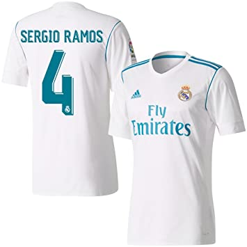 85ed8aab630 Player Print - adidas Performance Real Madrid Home LFP Sergio Ramos 4 Shirt  2017 2018 (