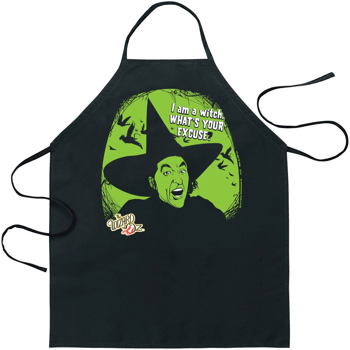 ICUP Wizard of Oz I Am a Witch Apron, Clear 06905