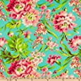 Amy Butler Love Bliss Bouquet Teal Fabric By The Yard