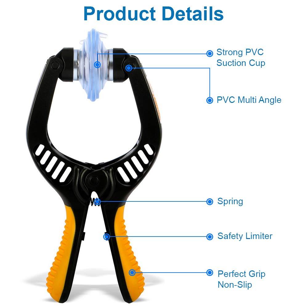 MMOBIEL Outils pour ouverture//r/éparation d/écrans LCD compatible tous types de Smartphones et Tablettes pincettes et ventouse incluses Orange