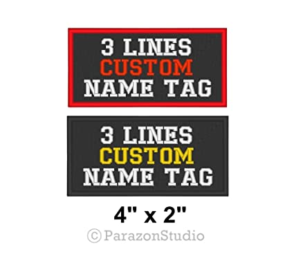 4e8105e0bedb Custom Embroidered Name Tag Sew on Patch Rocker Biker Badge 3 Lines 4