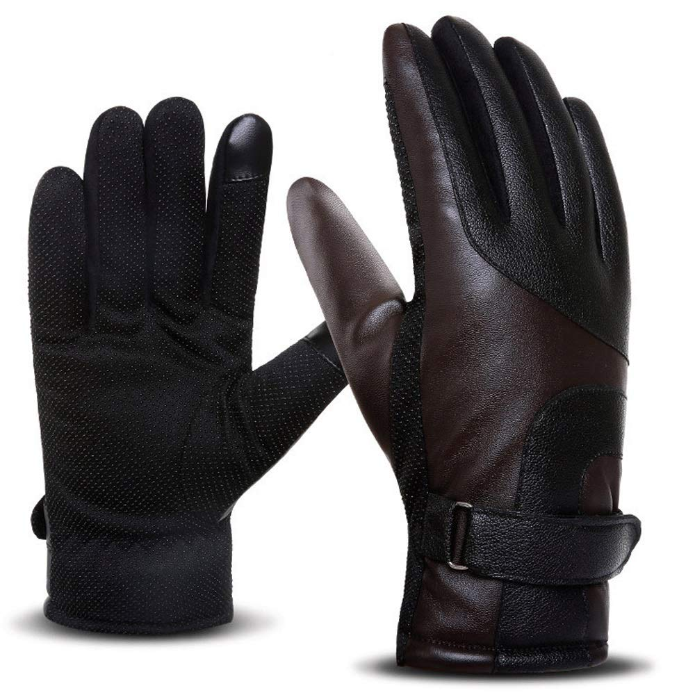 GLJJQMY Motorcycle Gloves All-in-one Outdoor Sports Racing Off-Road Motorcycle Waterproof Protective Breathable Gloves, Multiple Colors Glove (Color : Brown)