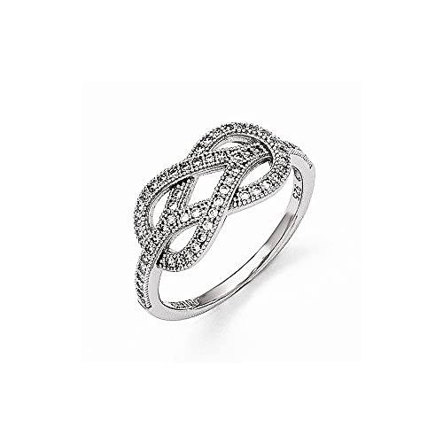 Buy For Less Clear Cubic Zirconia Baby Snake Ring Rhodium Plated Sterling Silver