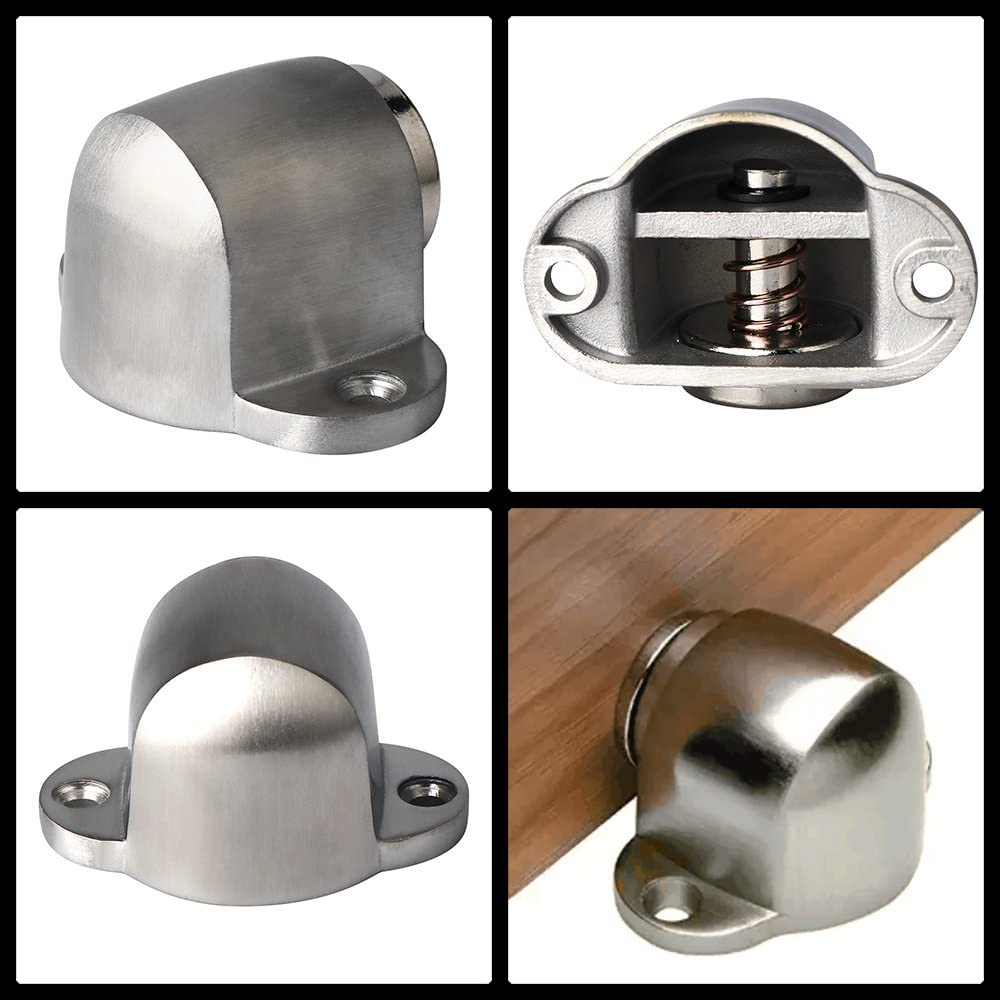 Mooche 2Pcs Door Stopper Magnetic Door Catch Anti-Collision Magnet Cabinet Door Holder Doorstop MMX5003-2P