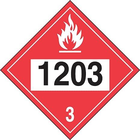 NMC DL134UV50 Gasoline 3 Dot Placard Sign