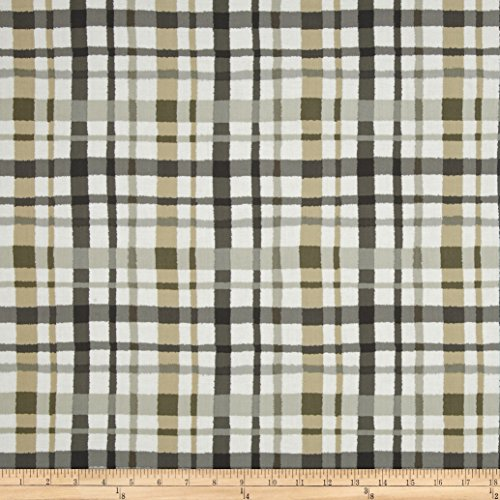 Paintbox Fabric (Paintbox Shadows Plaid Taupe Fabric)
