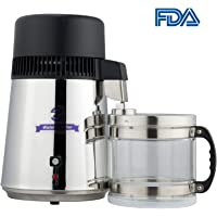 CO-Z 4 Liter Water Distiller Machine Home Countertop with Connection Bottle and Food-Grade Outlet