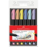 Caneta Ponta Pincel, Faber-Castell, Supersoft Brush, 15.0706TPSOFT, 6 Cores Pastel