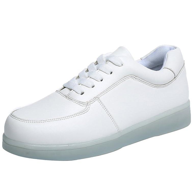 [Presente:pequeña toalla]Blanco EU 26, Zapatillas manera con Hombre LED Recargable Luz JUNGLEST®
