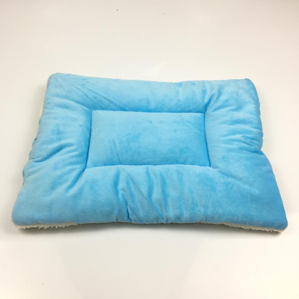 A 7055cmWUTOLUO Pet Bolster Dog Bed Comfort Kennel Pet mat warm lamb velvet cotton mat (color   A, Size   70  55cm)