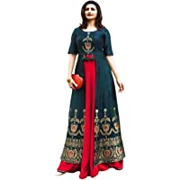 Black kite Women's Kurtas & Kurtis Rayon Long Kurti Long Kurti for Women Women's Dresses Rayon Maxi Dress