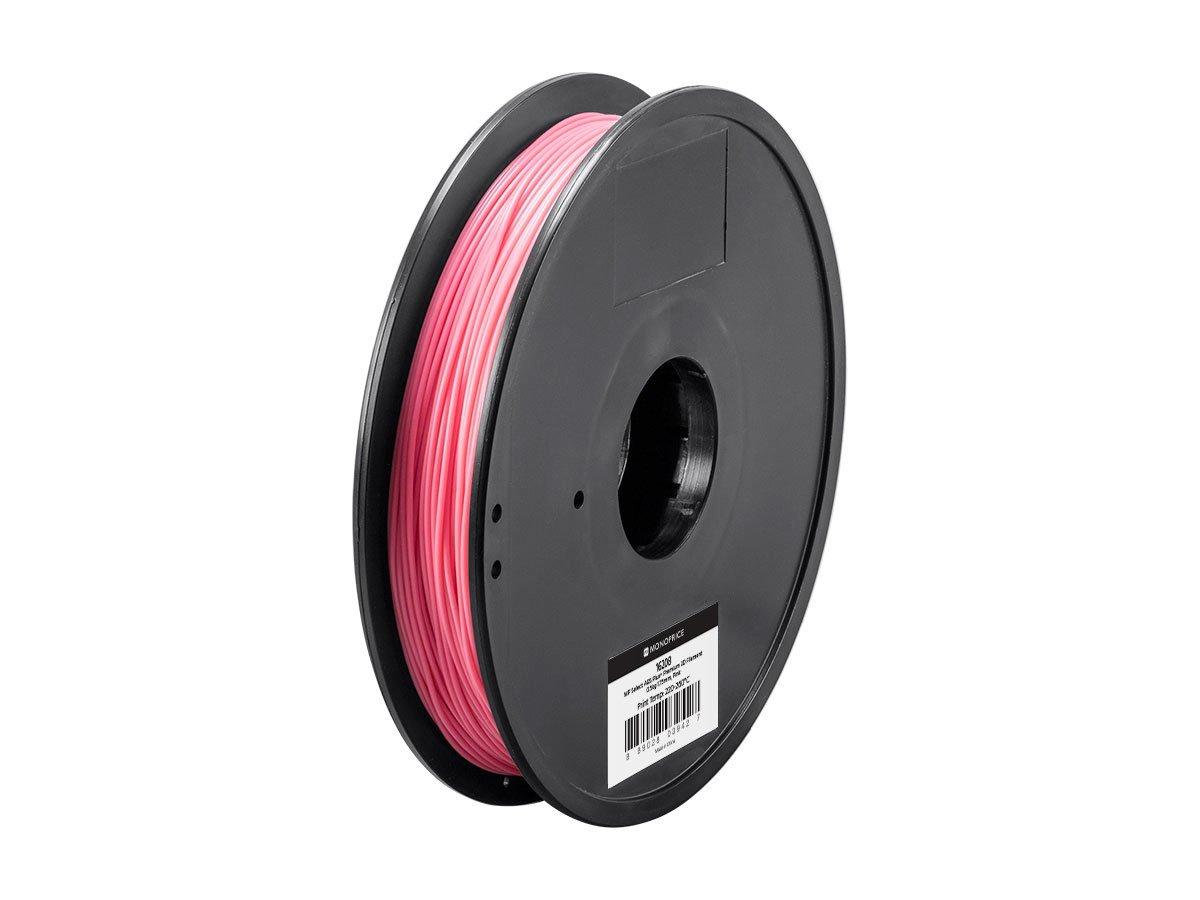 Premium 3D Filament 0.5kg 1.75mm Red Monoprice MP Select ABS Plus