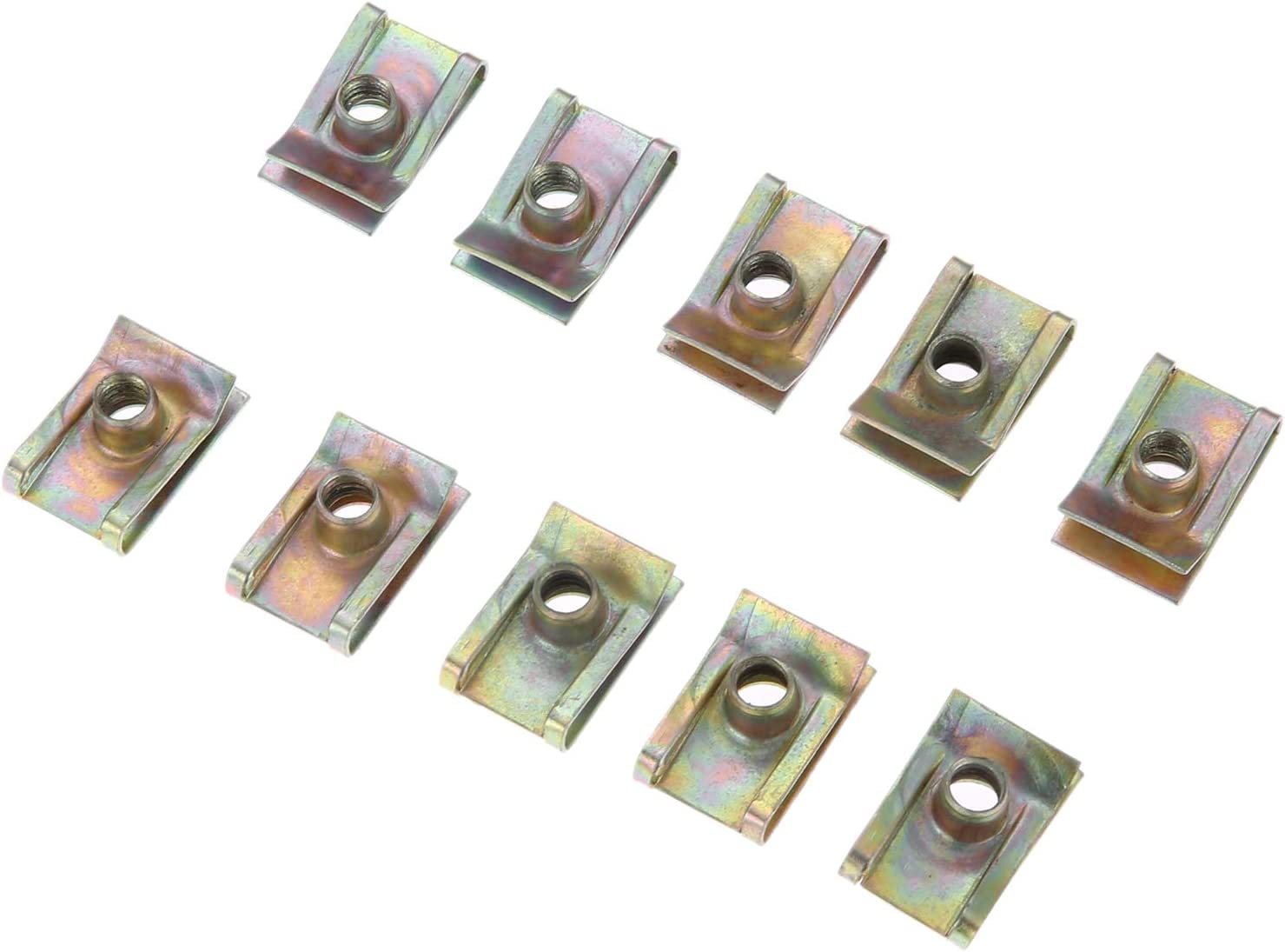 Mtsooning 20Pcs Auto Clips M5 Universal Clips for Car Motor Tread Panel Spire Nut Fairing Clip Fastener Speed Zinc Mounting Clamp