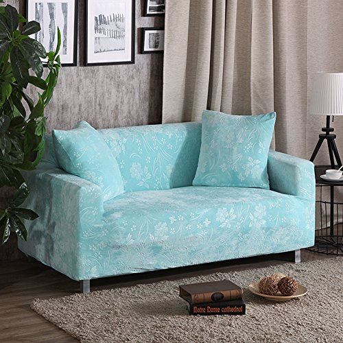 Jacquard Stretch Sofa Slipcover 1-piece Solid Color Thick Universal Leather Solid Couch Covers Living Room Furniture Protector-G Loveseats 145~185cm(57~73inch) from TT&CC