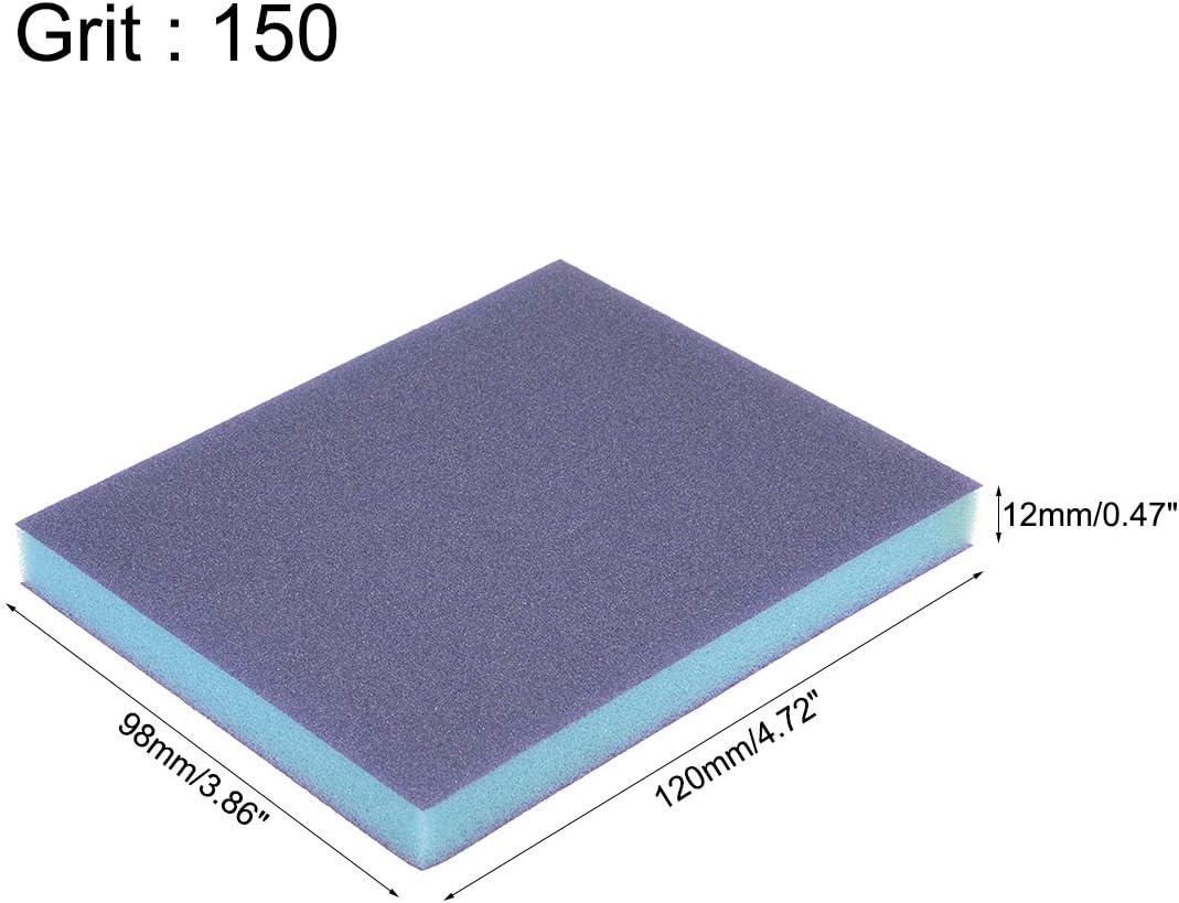 sourcing map /Éponge pon/çage Medium Grain 180 Grain Bloc pon/çage 4.72x3.86x 0.47 8Pcs