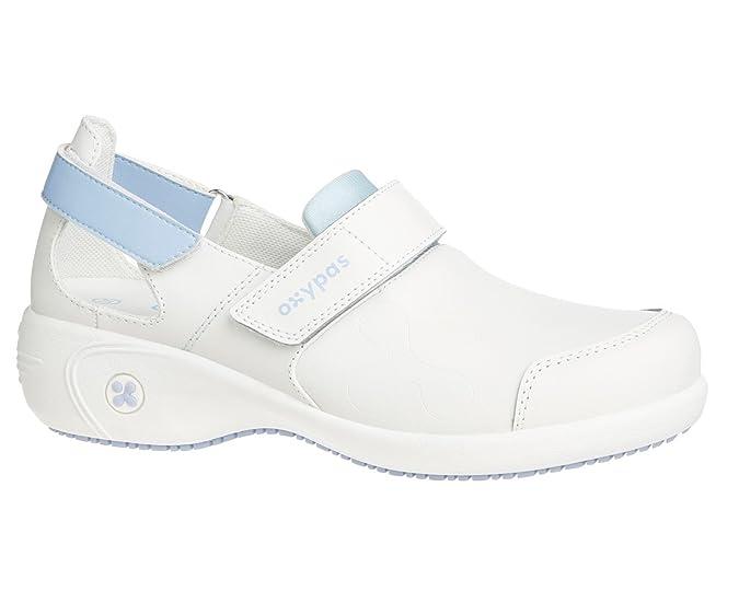 Oxypas Move Up Salma Slip-resistant, Antistatic Nursing Shoes, White/Purple (Liliac), 5.5 UK (39 EU)