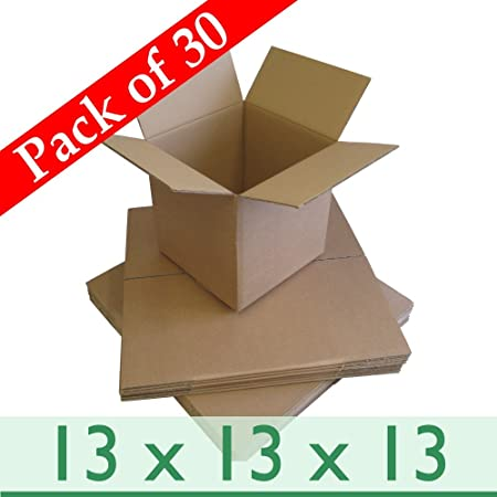 74481ab9ba2 Pack of 30 Storage Removal Cubed Cartons - Corrugated Cardboard Boxes  Double Wall - 13