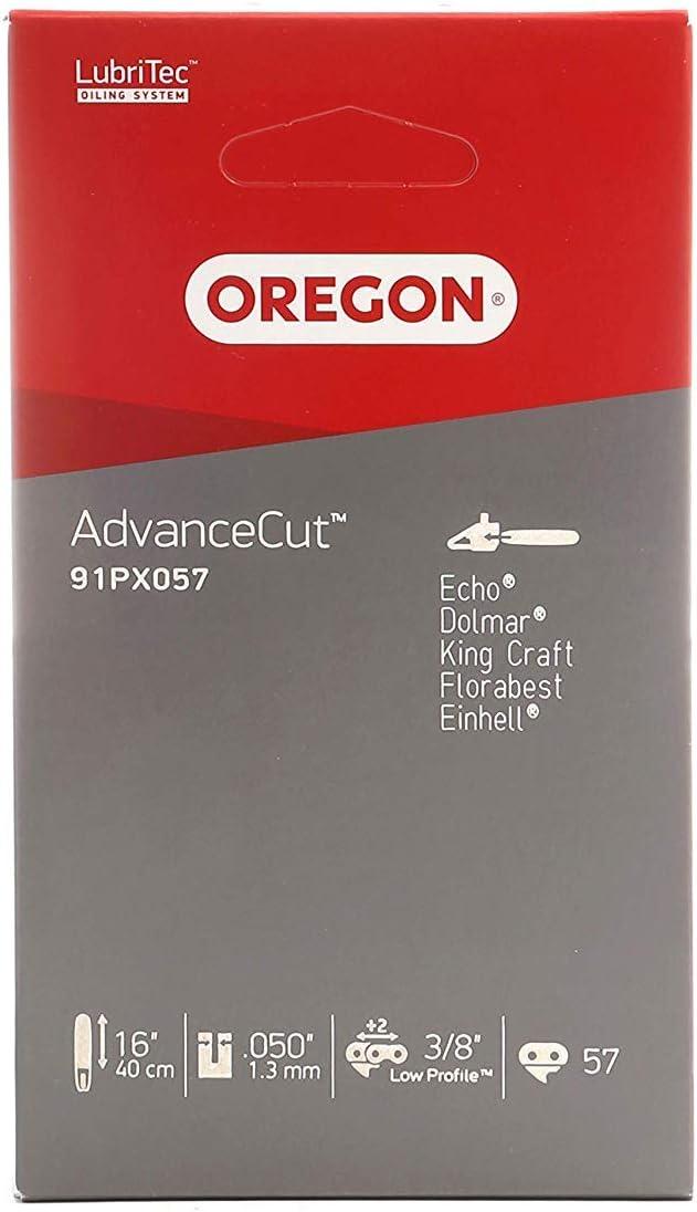 Oregon 91PX057E - Cadena para sierra (paso de 3/8H, 1,3 mm, con eslabón)