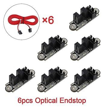 Innovateking 6 unids Tope óptico con 1 M Cable Interruptor óptico ...