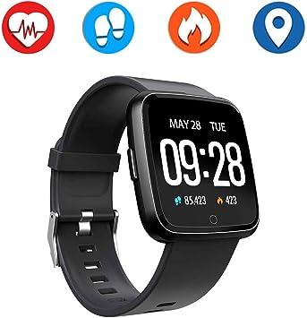 PRIXTON Reloj InteligenteSmart Band para Hombre y Mujer, Control de Actividad de Diaria y Aviso de notificaciones   AT803