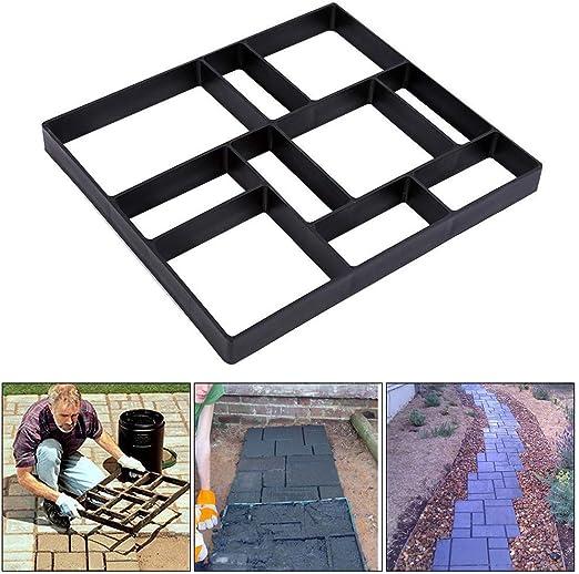 Molde para Cemento, Molde para Hormigón, Molde para Hacer Pavimentos/Caminos/Suelos de Jardín, Patio, Balcón, Terraza, de Plástico Resistente, 45X40X4cm: Amazon.es: Jardín