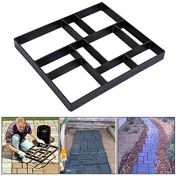 Molde Hormigon, Impreso Molde de Pavimento de Entrada de Bricolaje Cemento Ladrillo Piedra Carretera DIY Molde Formar Path Pared para Jardin Patio Balcón ...