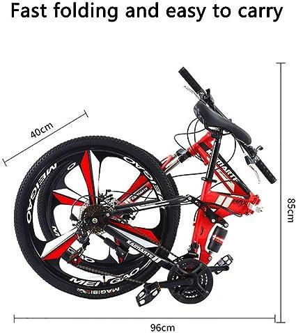 XHCP Bicicleta de montaña Plegable 24/26 Pulgadas, MTB de Acero al ...