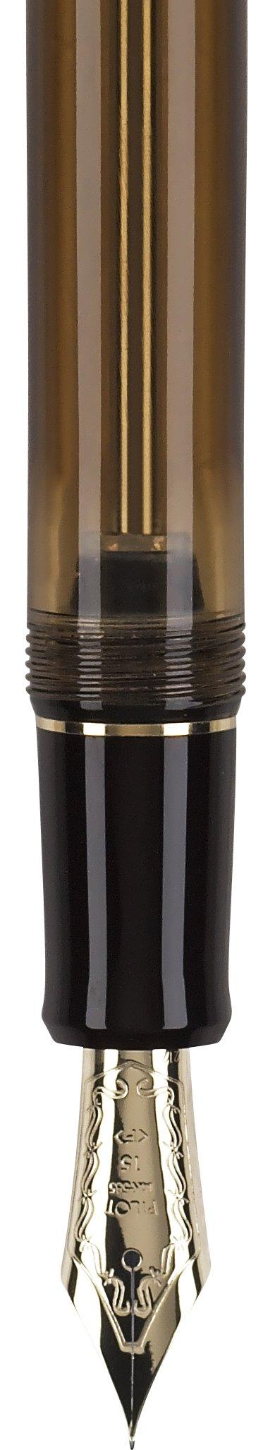Pilot Custom 823 Fountain Pen, Amber Barrel, Blue Ink, Medium Nib (60556) by Pilot (Image #4)