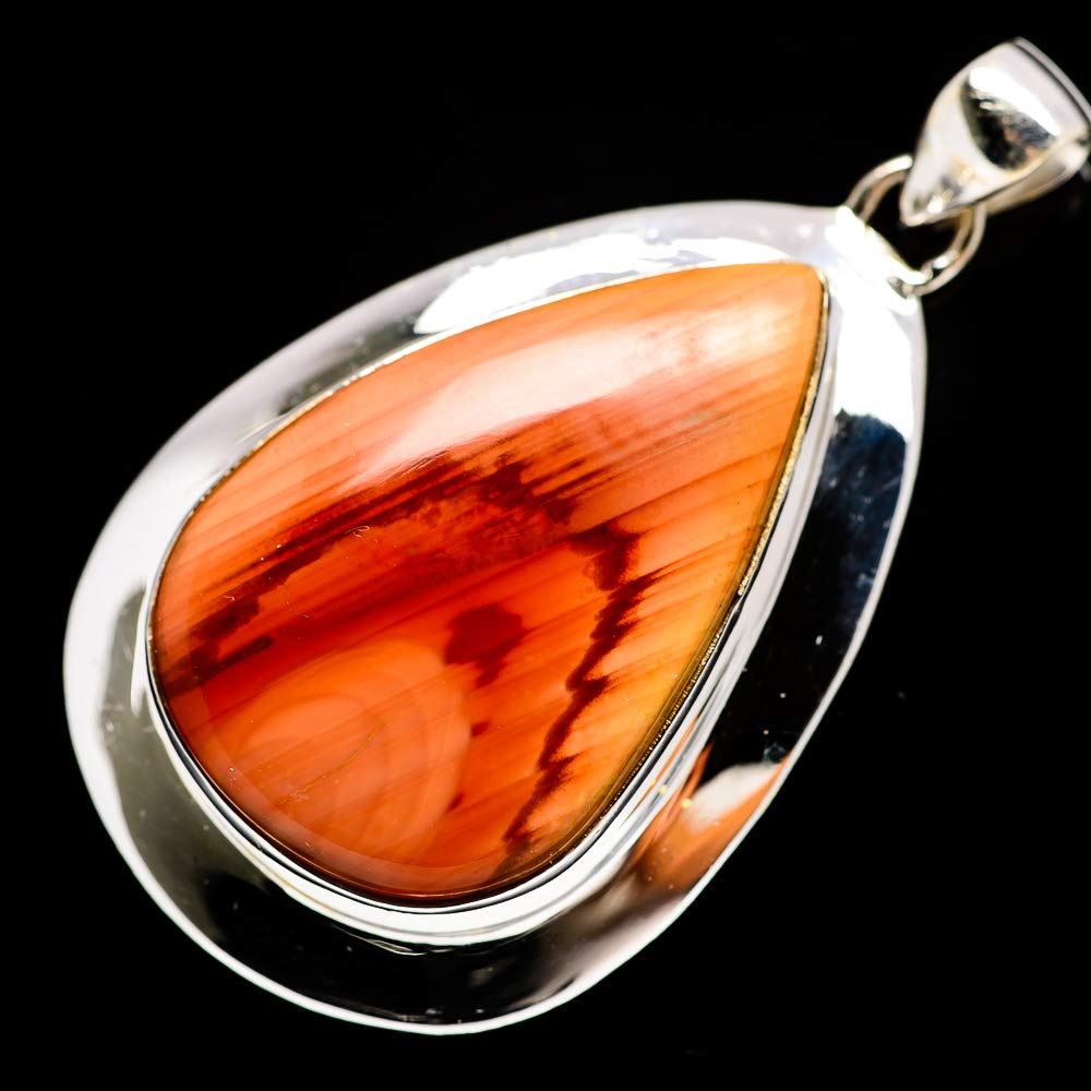 - Handmade Jewelry Vintage PD686042 Ana Silver Co Imperial Jasper Pendant 2 925 Sterling Silver Bohemian