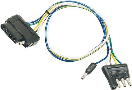 bargman rv plug wiring amazon com bargman 51 20036 4 flat to 5 flat trailer harness  amazon com bargman 51 20036 4 flat to
