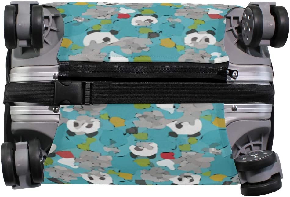 Cute Panda Post Many Emoticons Travel Suitcase Protector Zipper Suitcase Cover Elastic