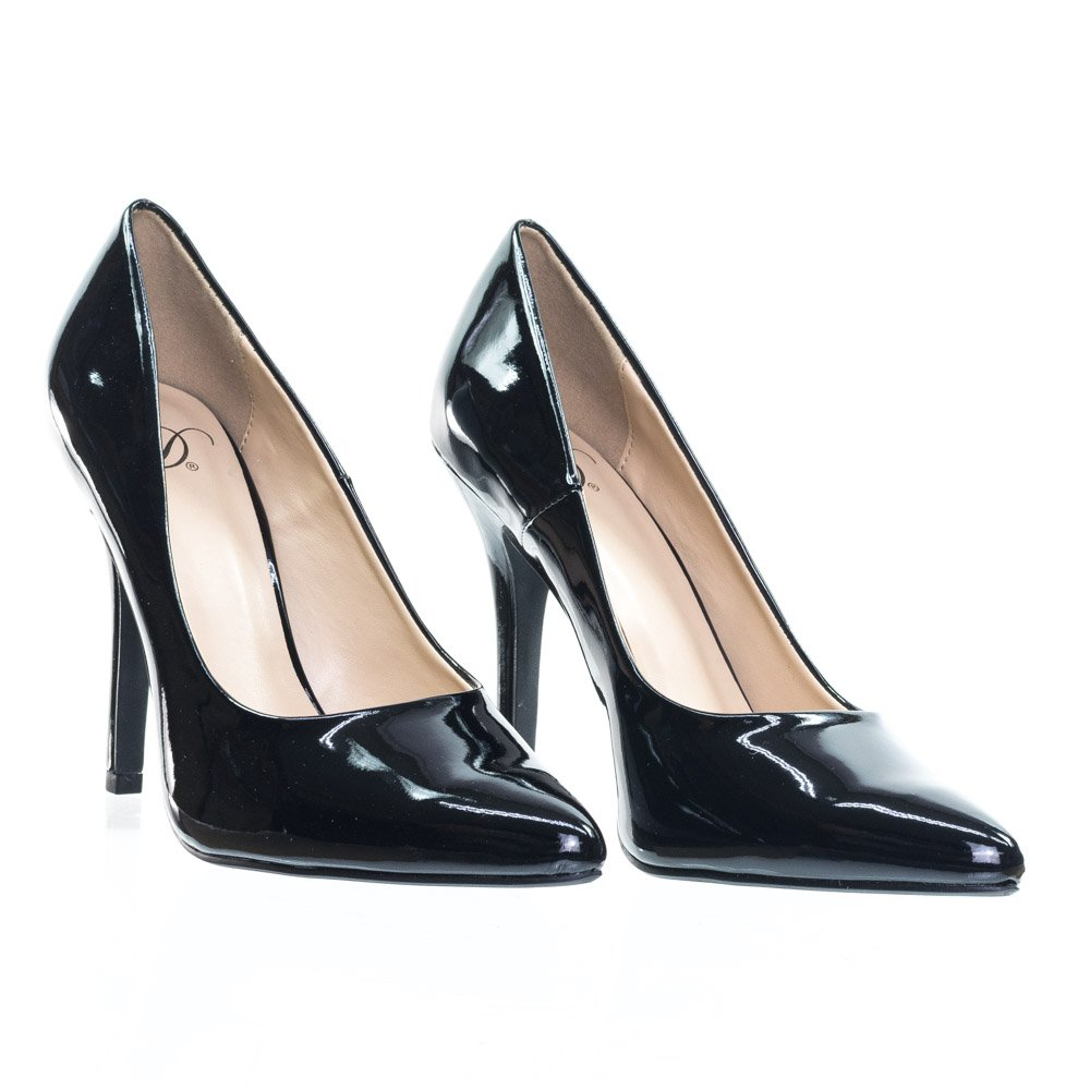 Delicious Womens Date-H Fashion Pumps-Shoes B00JPB1DD8 9 B(M) Pat US|Black Faux Pat B(M) 0d6284