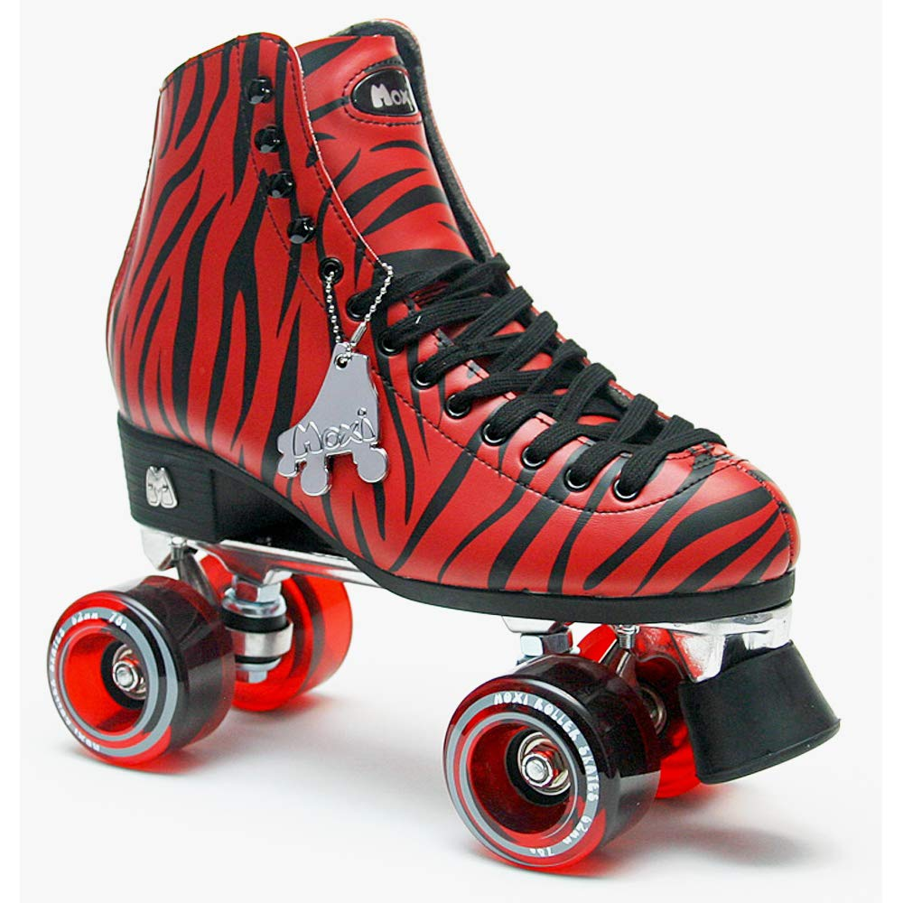 Riedell Moxi Roller Skates Ivy Zoo Size US5 (23.0-23.5cm)