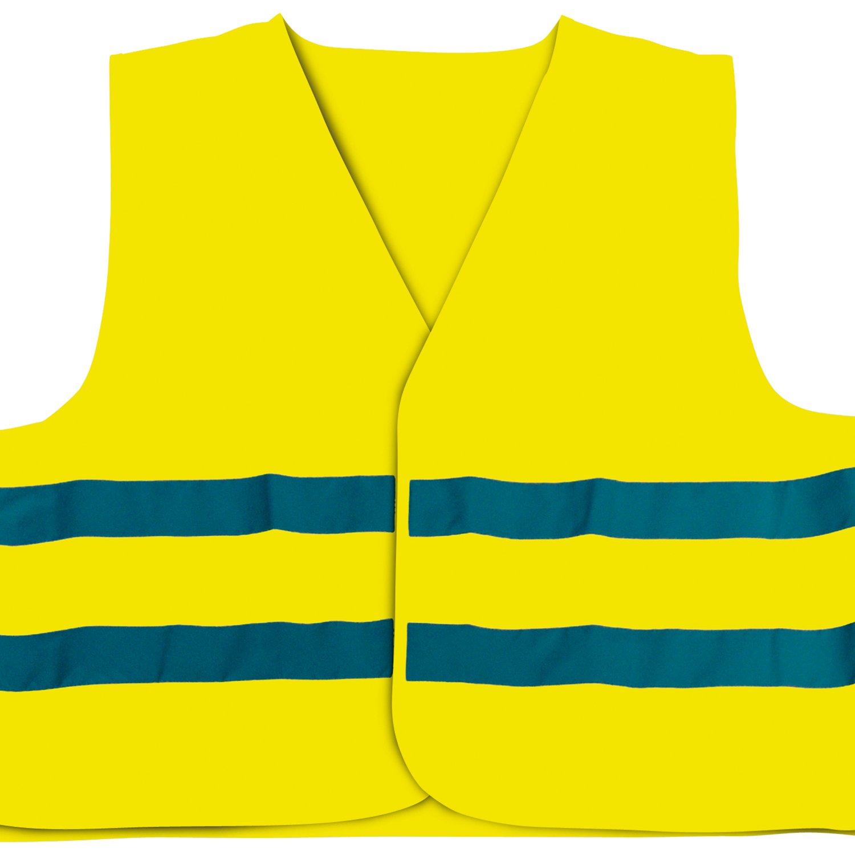 Cartrend 50126 Gilet ad alta velocità , giallo, a norma DIN EN 20471