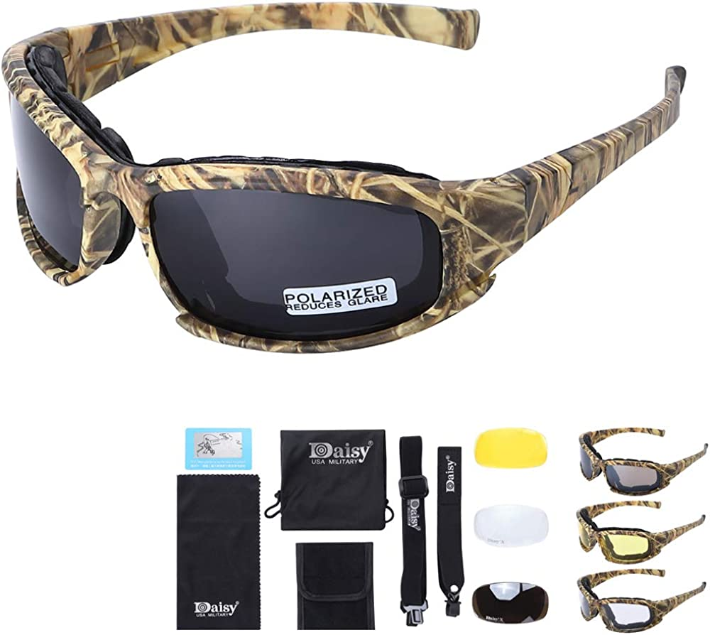 Polarized Outdoor Tactical Glasses Windproof Military 4 Lens Kit Military Goggles Outdoor Sunglasses