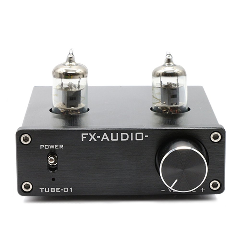 FX Audio TUBE-01 6J1 Tube Buffer HIFI Preamplifier (Black) by FX Audio