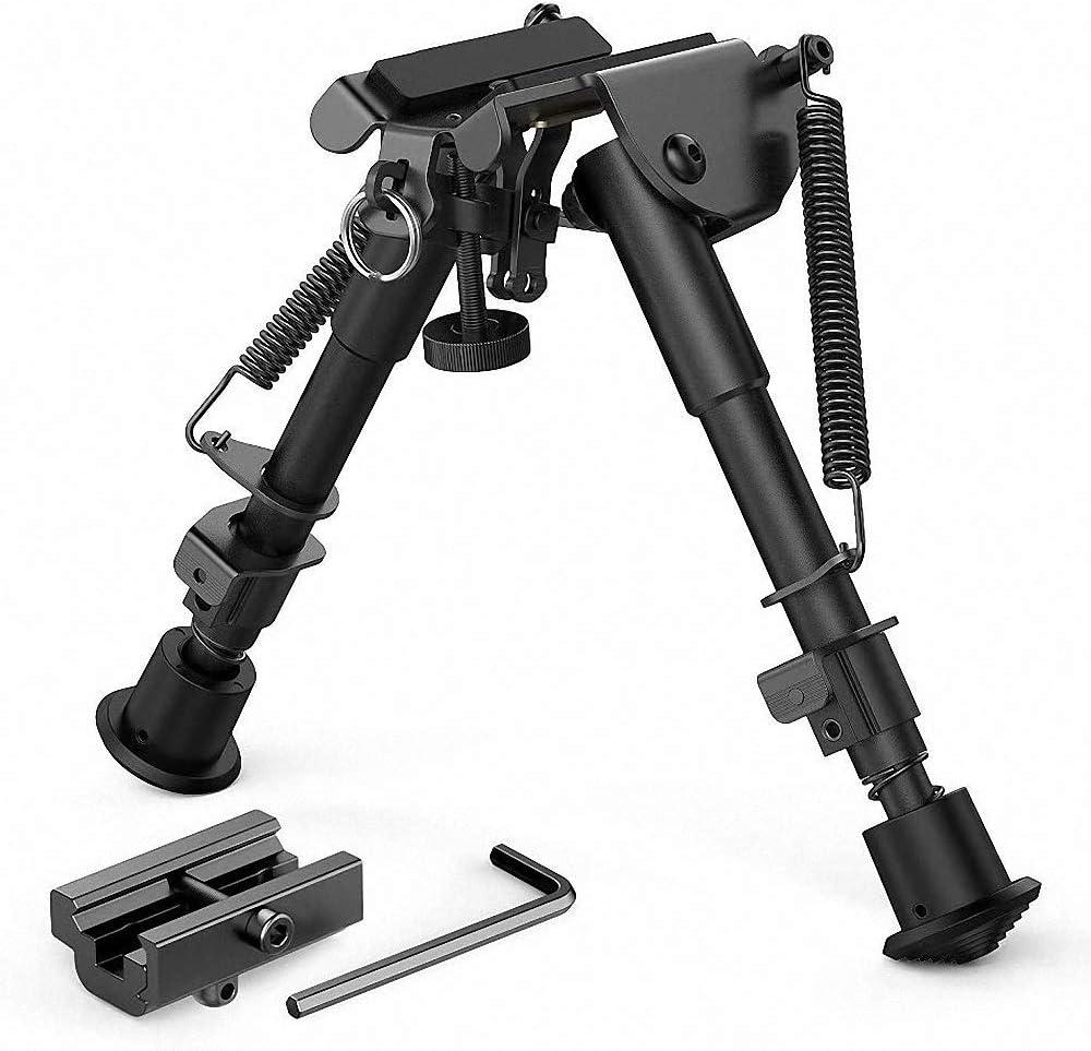 6 a 9 Pulgadas Bípode Extensible con adaptadores para Rifle Pistola de Aire